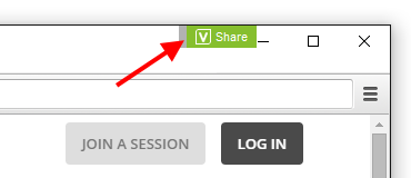 Screencap showing what the VShare icon looks like