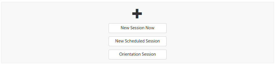 New session buttons