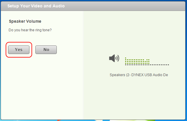 Screencap showing what the speakers calibration window looks like