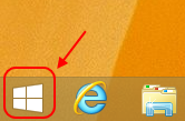 Screencap showing where to find the Windows button