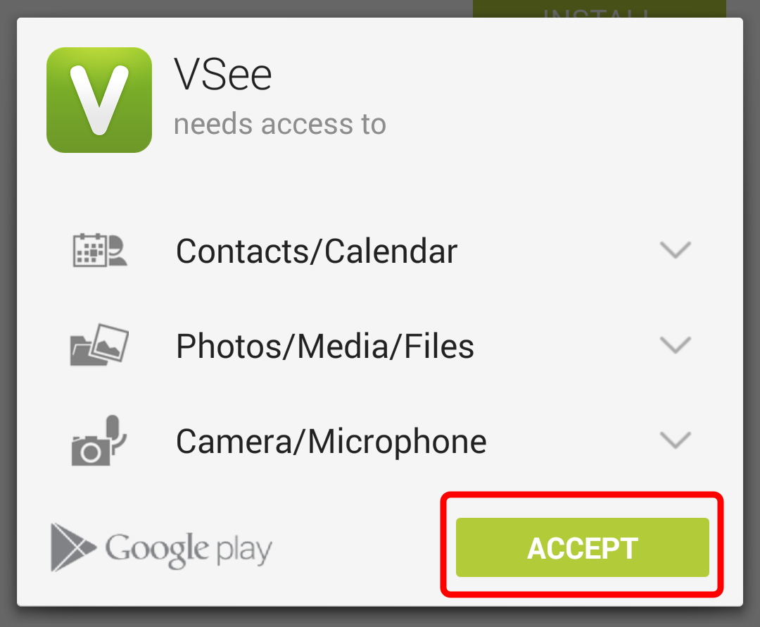 Screencap showing the Accept button