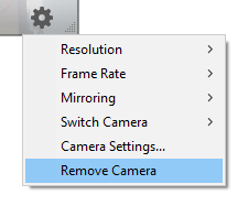 Remove camera option