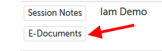 E-Documents button to the left of user name