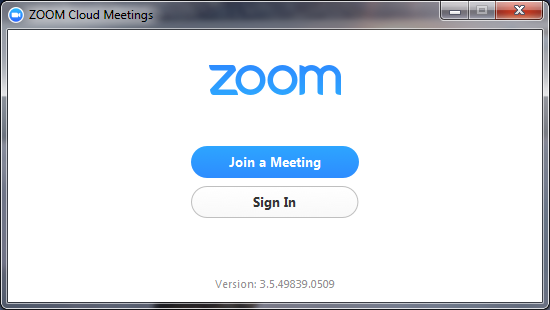 Main zoom message.
