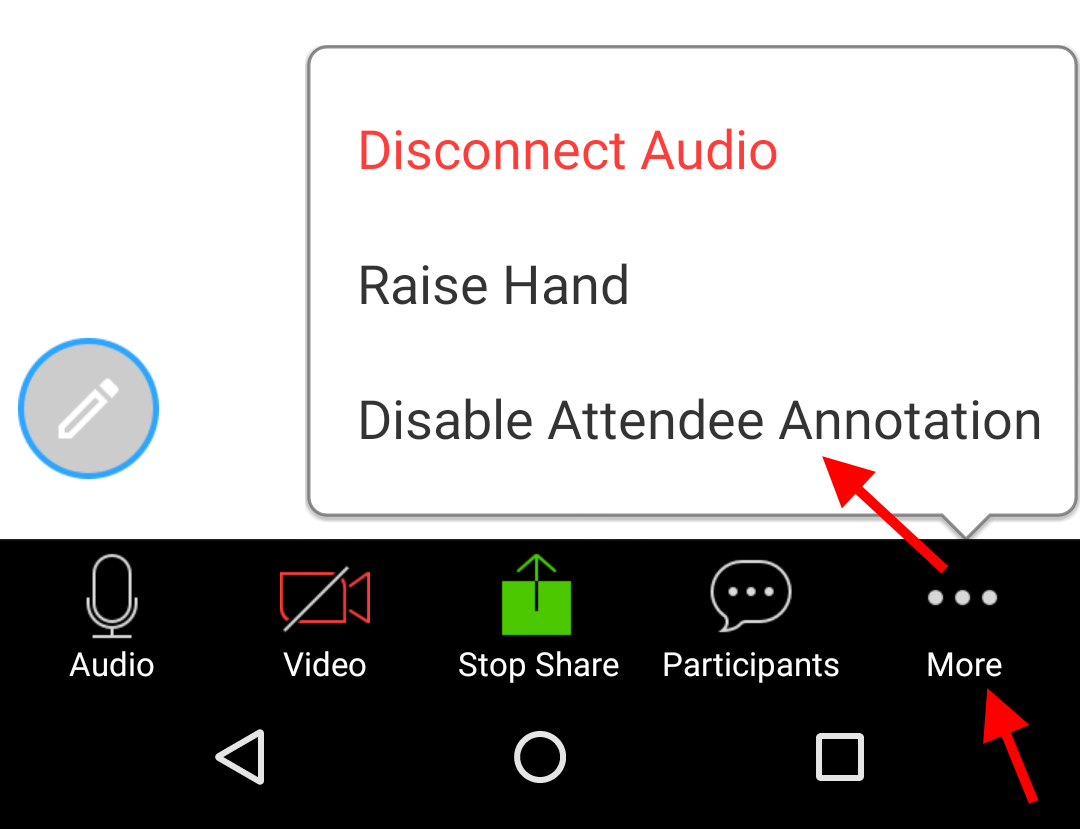 Disable attendee annotation